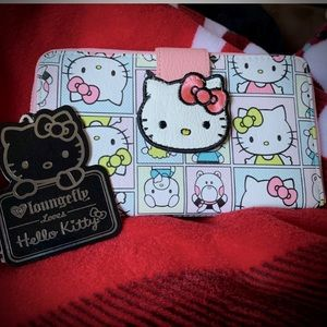 🙀Rare!⭐️Loungefly Hello Kitty Cell Carrier Wallet
